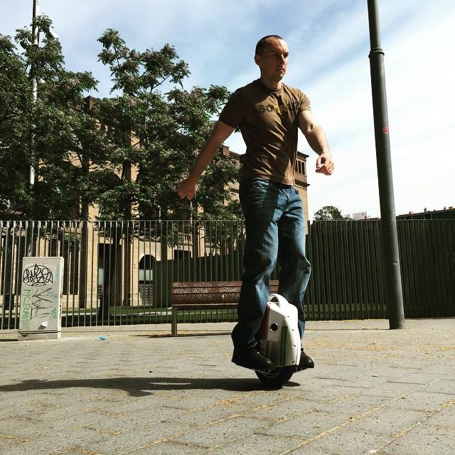 auto-equilíbrio monociclo